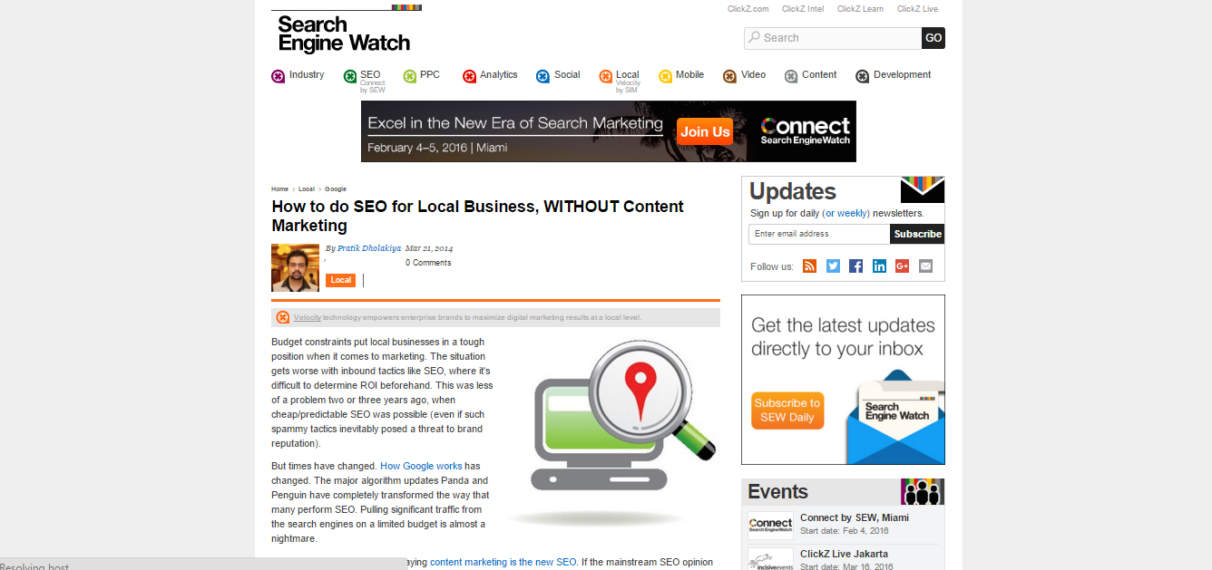 searchenginewatch.com Local SEO services UK